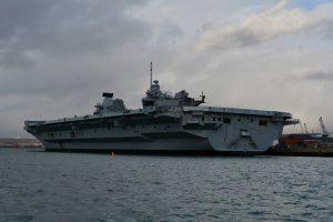 Queen Elizabeth, taken from the boat