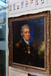 Portrait of Sir Home Popham in the museum