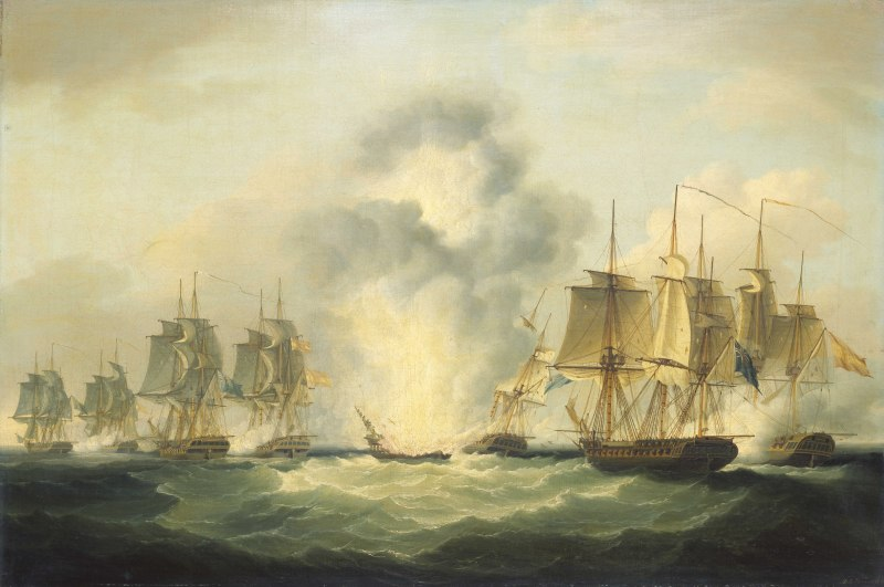 Naval Action off Cape Santa Maria, Portugal, 1804