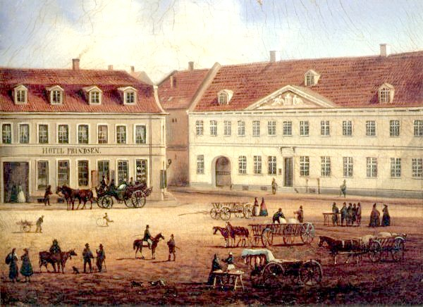 Køge Town Hall, c. 1850